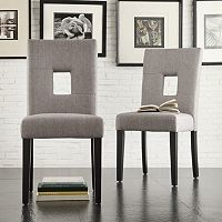 HomeVance 2-piece Roxton Keyhole Side Chair Set