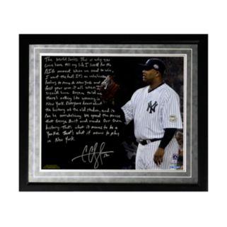 "Steiner Sports New York Yankees CC Sabathia Winning in New York Facsimile 16"" x 20"" Framed Metallic Story Photo"