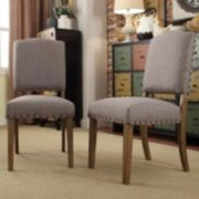 HomeVance Acadian 2-piece Nailhead Side Chair Set