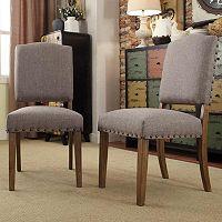 HomeVance Acadian 2 pc Nailhead Side Chair Set