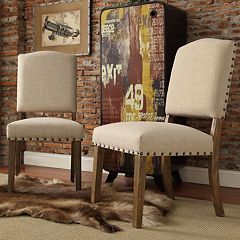 HomeVance Acadian 2 pc Nailhead Side Chair Set