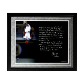 "Steiner Sports St. Louis Cardinals Ozzie Smith Flip Facsimile 16"" x 20"" Framed Metallic Story Photo"