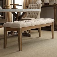 HomeVance Manda Tufted Dining Bench