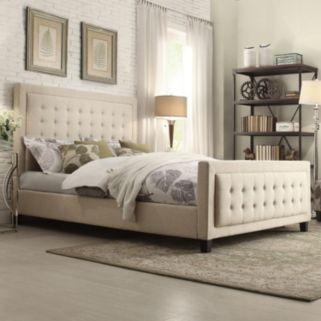 HomeVance Sheila 3-piece Headboard, Footboard & Bed Frame Set