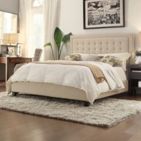 HomeVance Shelia Button Tufted Low Profile Bed