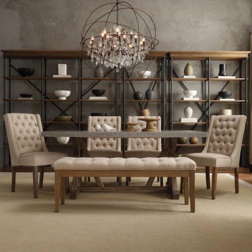 HomeVance 2-piece Astoria Tufted Chair Set