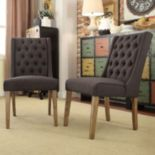 HomeVance 2-piece Astoria Tufted Chair Set