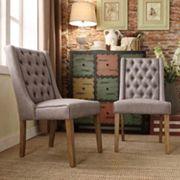 HomeVance 2 pc Astoria Tufted Chair Set