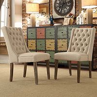 HomeVance 2 pc Astoria Tufted Chair Set