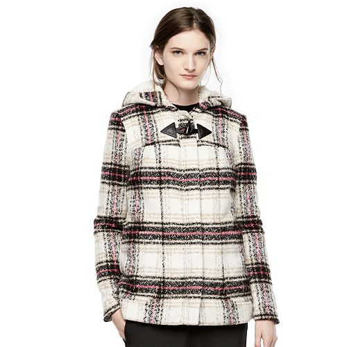 Thakoon for DesigNation Plaid Hooded Flannel Coat - Women's
