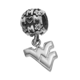 "Dayna U Sterling Silver West Virginia Mountaineers Team Logo ""Mom"" Charm"