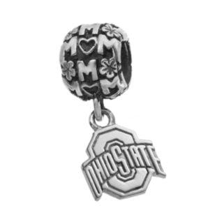 "Dayna U Sterling Silver Ohio State Buckeyes Team Logo ""Mom"" Charm"