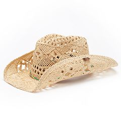 b83f3c39b25 Peter Grimm Ariel Straw Cowboy Hat