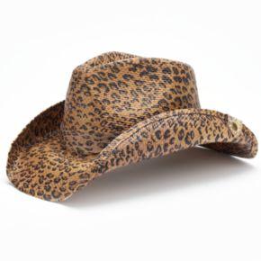 Peter Grimm Rowdy  Cheetah Cowboy Hat