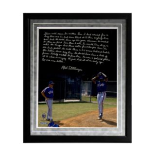 "Steiner Sports New York Mets Mel Stottlemyre Coaching Doc Facsimile 16"" x 20"" Framed Metallic Story Photo"