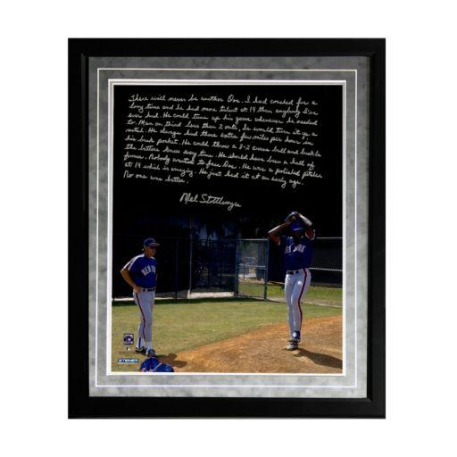 "Steiner Sports New York Mets Mel Stottlemyre Coaching Doc Facsimile 16"" x 20"" Framed Metallic Story Photo"