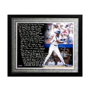 "Steiner Sports New York Mets Darryl Strawberry 1996 World Series Facsimile 16"" x 20"" Framed Metallic Story Photo"