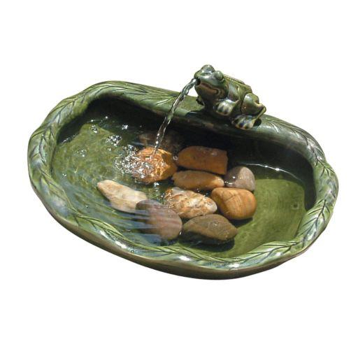 Smart Solar Spouting Frog Fountain