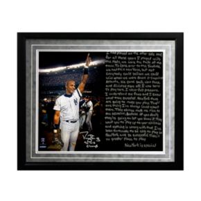 "Steiner Sports New York Yankees Darryl Strawberry 1986 Mets Facsimile 16"" x 20"" Framed Metallic Story Photo"