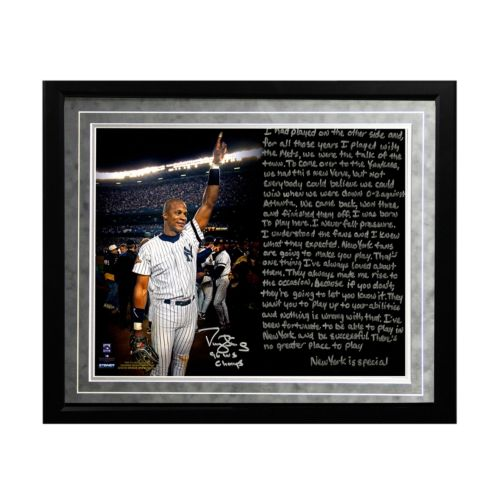 Steiner Sports New York Yankees Darryl Strawberry 1986 Mets Facsimile 16 x 20 Framed Metallic Stor...