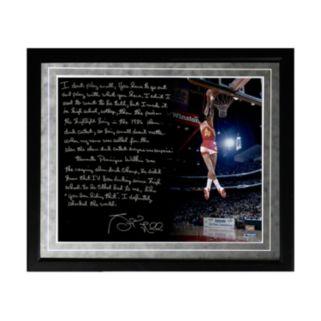 "Steiner Sports Atlanta Hawks Spud Webb Slam Dunk Contest Facsimile 16"" x 20"" Framed Metallic Story Photo"