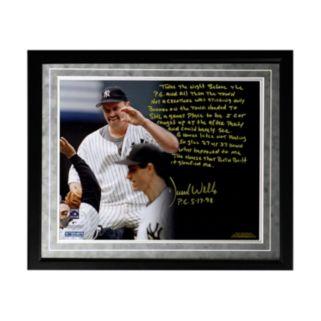 "Steiner Sports New York Yankees David Wells Perfect Game Facsimile 16"" x 20"" Framed Metallic Story Photo"