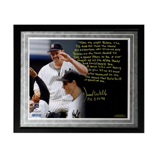 "Steiner Sports New York Yankees David Wells Perfect Game Facsimile 16"" x 20"" Framed Metallic Story Photo"