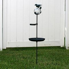 Smart Solar Aquarius LED Light Outdoor Birdbath Garden Stake