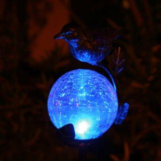 Smart Solar Aquarius LED Light Outdoor Birdbath Garden Stake