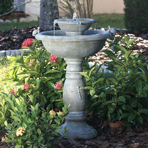 Smart Solar Country Gardens 2-Tier Solar Fountain