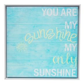 "Monika Strigel ""You Are My Sunshine"" Wall Art and White Frame"