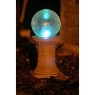 Smart Solar Crackled Glass Color Changing Gazing Ball