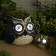Smart Solar 2 pc Bright Eyes Owl Accent Light Set