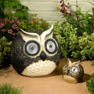 Smart Solar 2-piece Bright Eyes Owl Accent Light Set