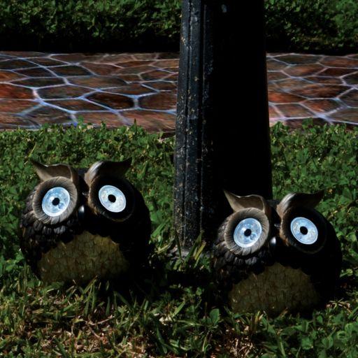 Smart Solar 2-piece Owl Accent Light Set