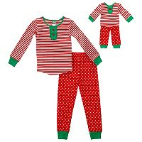 Girls 4-14 Dollie & Me Holiday Pajama Set