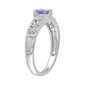 Stella Grace Tanzanite & Diamond Accent Sterling Silver Heart Ring