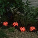 Smart Solar 4-piece Ladybug Accent Light Set
