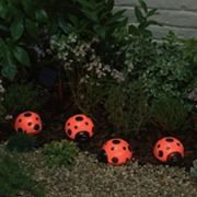 Smart Solar 4 pc Ladybug Accent Light Set