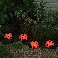 Smart Solar 4 pc Ladybug Accent Light Set
