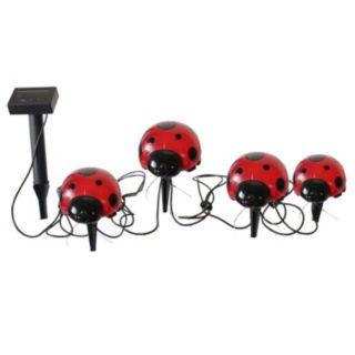 Smart Solar 4-piece Ladybug Accent Light Set