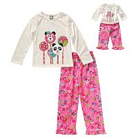 Girls 4-14 Dollie & Me Cake Pop Pajama Set