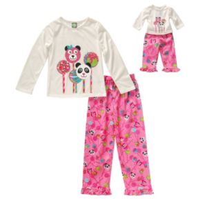 Girls 4-14 Dollie & Me Cake Pop Pajama Set