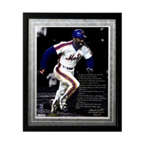 "Steiner Sports New York Mets Mookie Wilson 1986 Buckner Game Facsimile 16"" x 20"" Framed Metallic Story Photo"