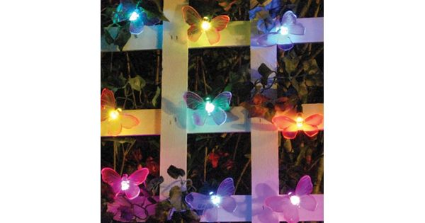 String Lights Kohls : Smart Solar Color Changing Butterfly String Light Decor