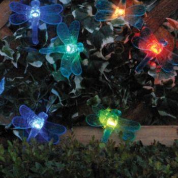 Smart Solar Color Changing Dragonfly String Light Decor