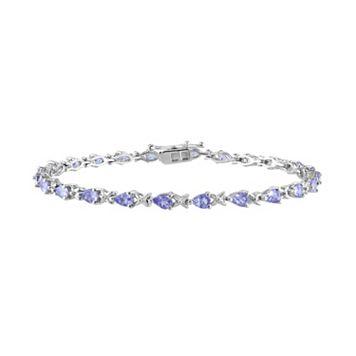 Tanzanite Sterling Silver Bracelet