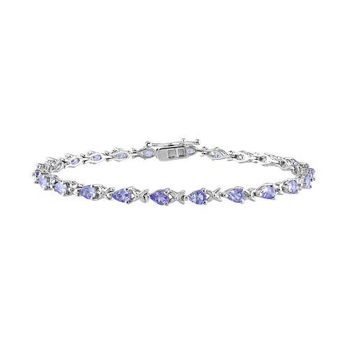 Stella Grace Tanzanite Sterling Silver Bracelet