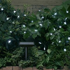 Smart Solar White Stars String Light Decor