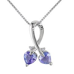 Stella Grace Tanzanite & Diamond Accent Sterling Silver Pendant Necklace